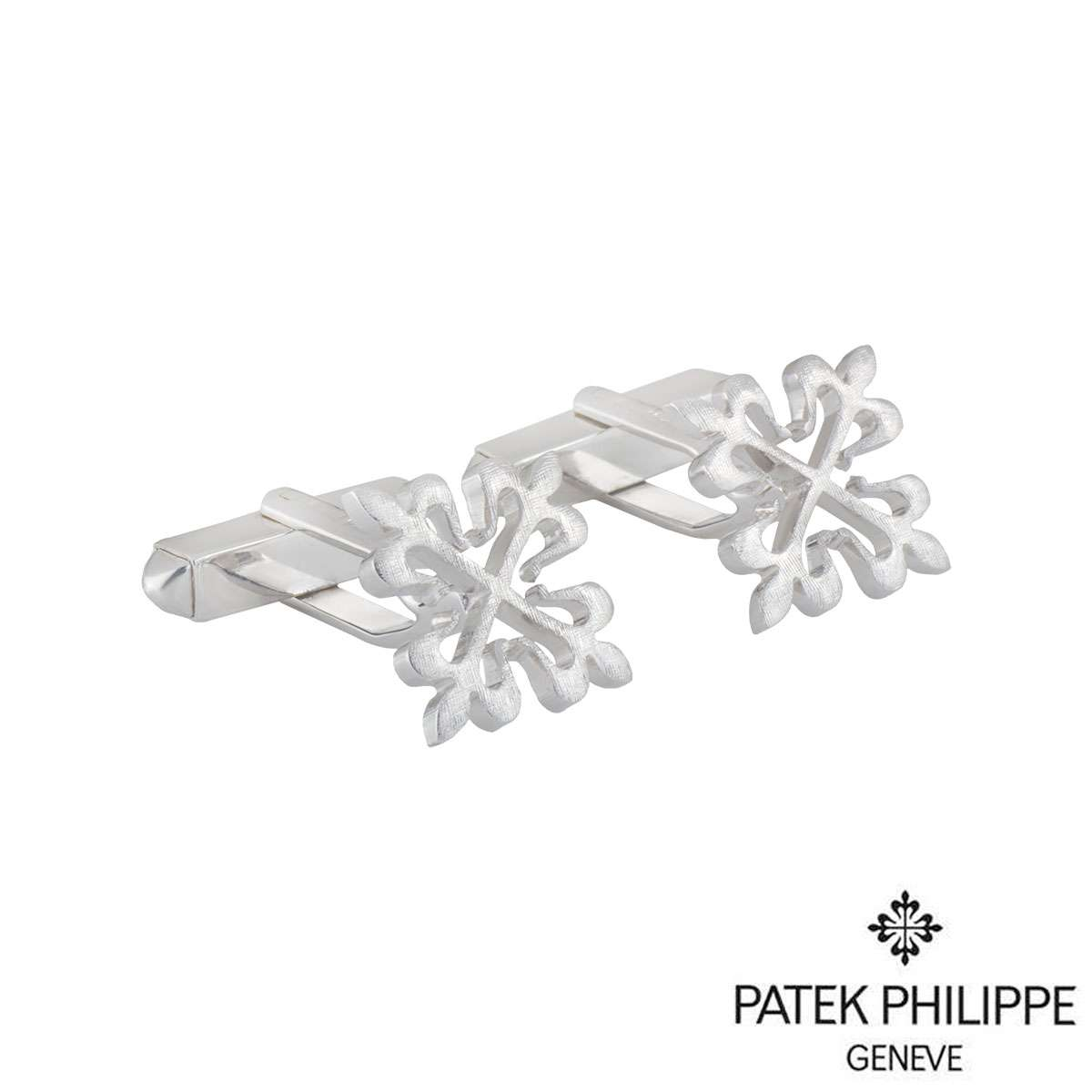 Patek Philippe White Gold Calatrava Cross Cufflinks